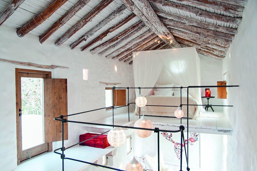 Una de las habitaciones de La Donaira.