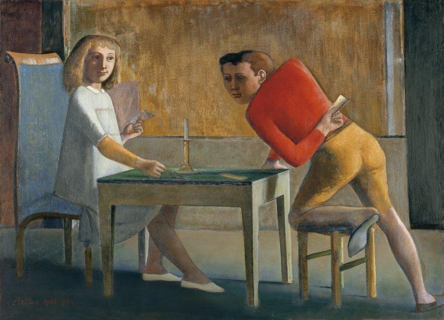 La partida de naipes, 1948-1950