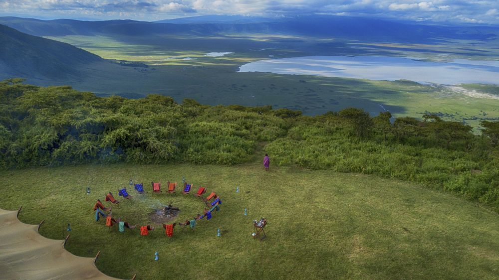 El Pakulala Safari Camp de Ratpanat es el único campamento situado en el interior del cráter volcánico del Ngorongoro.