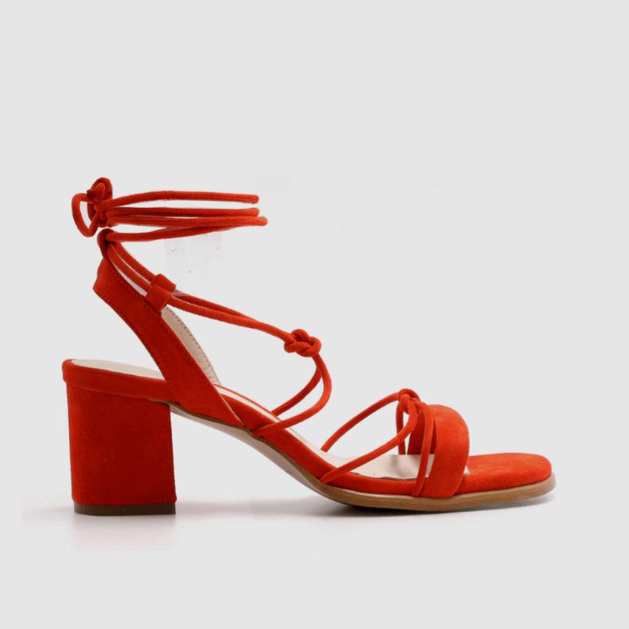 Sandalias en color naranja de Alohas Sandals(120¤)