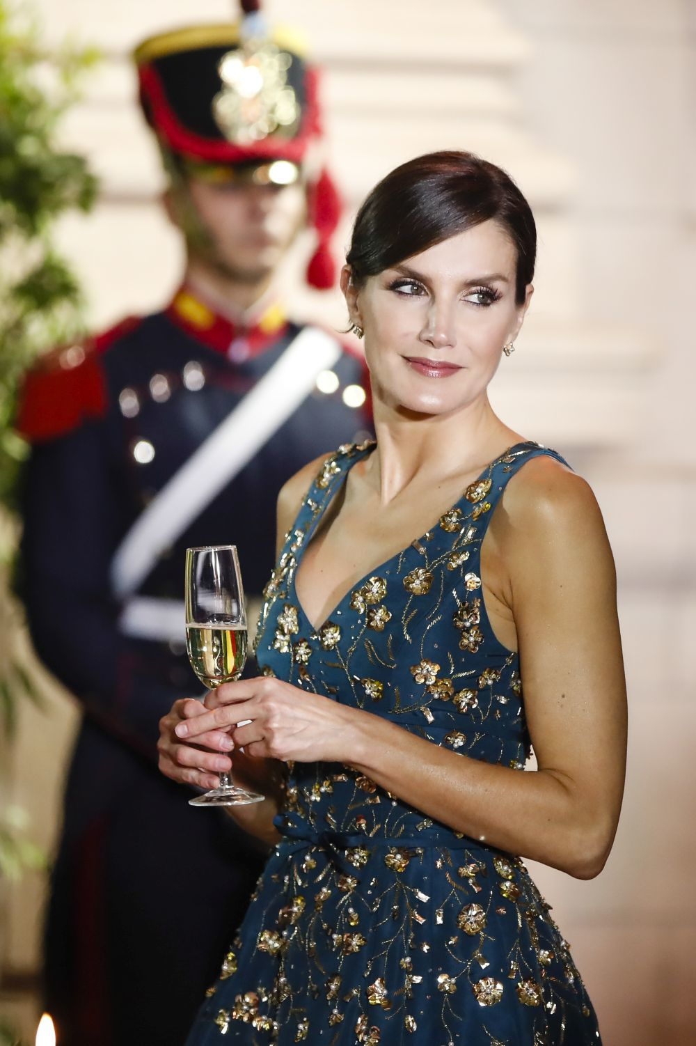 La reina Letizia en Argentina, de cena de gala.