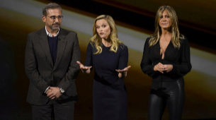 Steve Carell, Reese Witherspoon y Jennifer Aniston durante la...