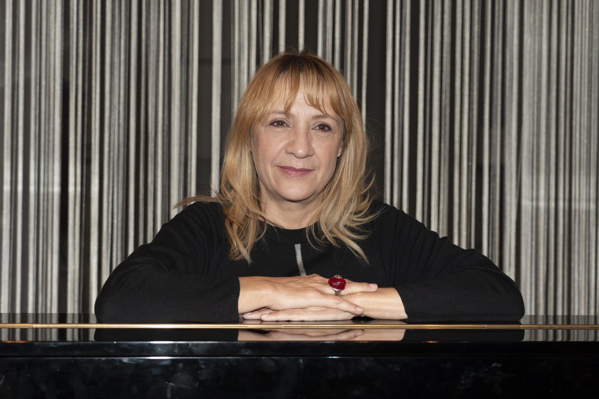 La actriz Blanca Portillo durante la presentación de Mrs Dalloway.