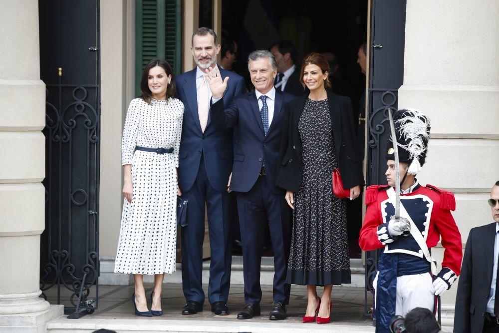 Los reyes de visita en Argentina.