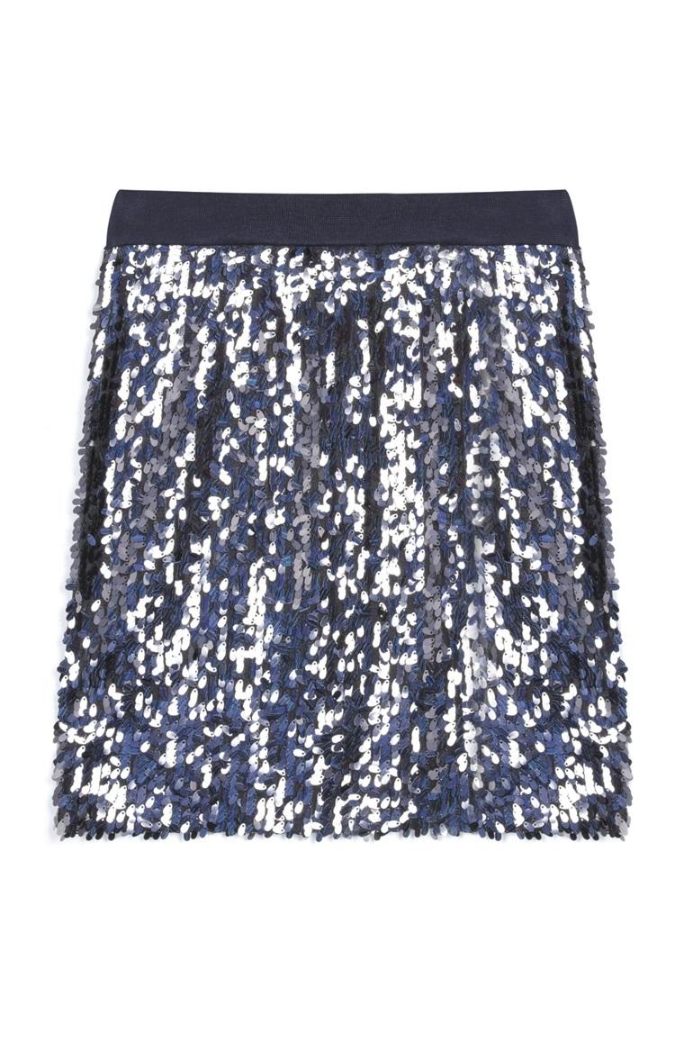 Falda de lentejuelas de Primark