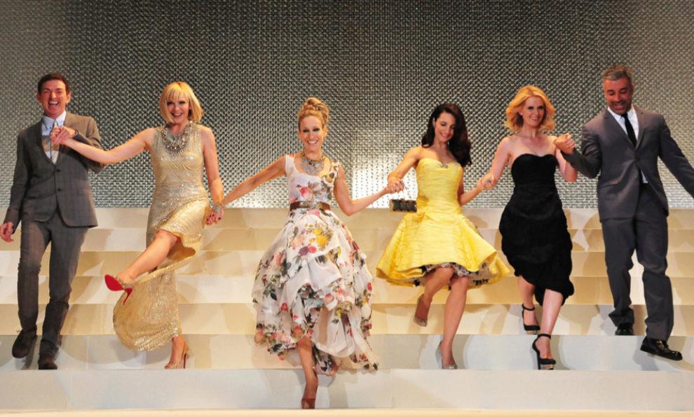 Las actrices de Sexo en Nueva York en la premier de la pelícual en...