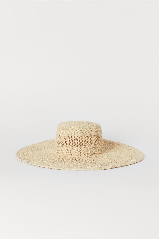 Sombrero de ala ancha de rafia de H&M (12,99¤)