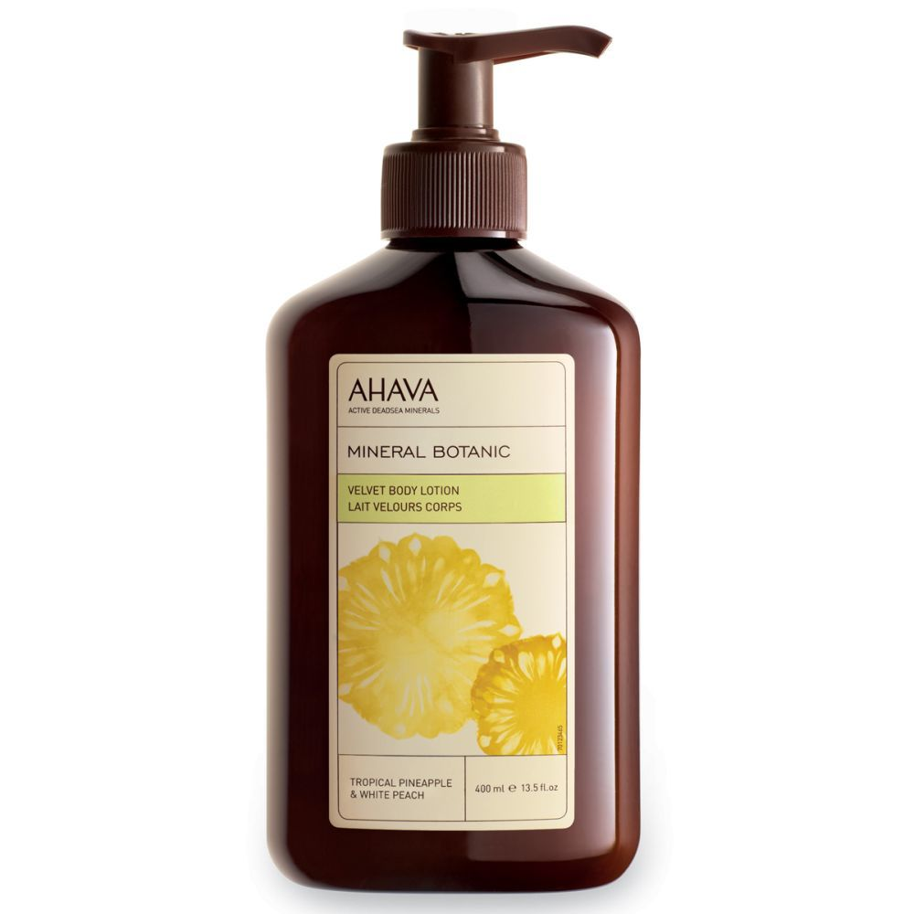 Mineral Botanic Body Lotion Tropical Pineapple & White Peach de Ahava.