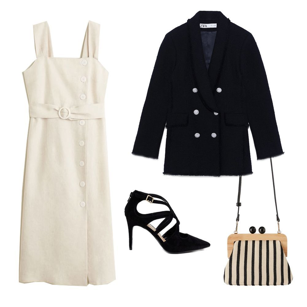 1. Vestido de Mango (49,99 euros). 2. Americana de Zara (79,95 euros)....