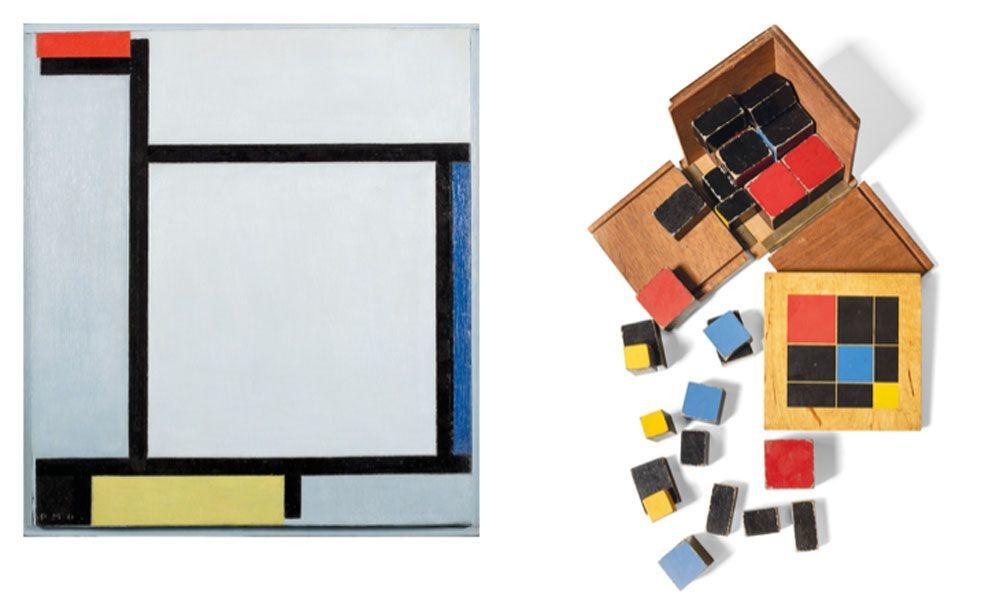 Algunos artistas como Mondrian han sido los elegidos para representar...