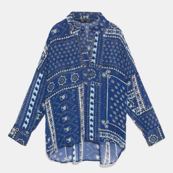 Blusa de aires hippy de Zara
