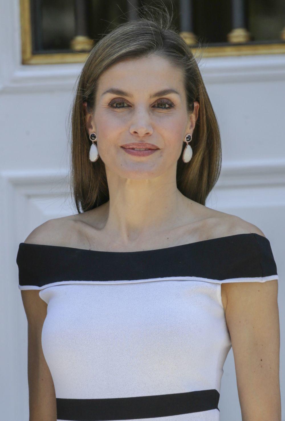 La Reina Letizia durante al visita del Presidente de Perú a España...