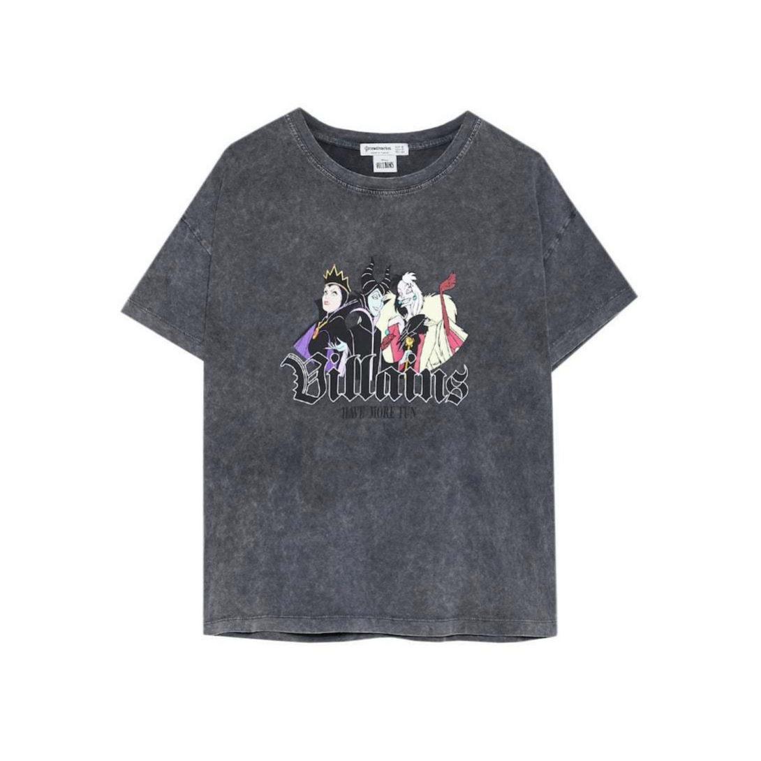 Camiseta vintage gris marengo de Disney de Stradivarius
