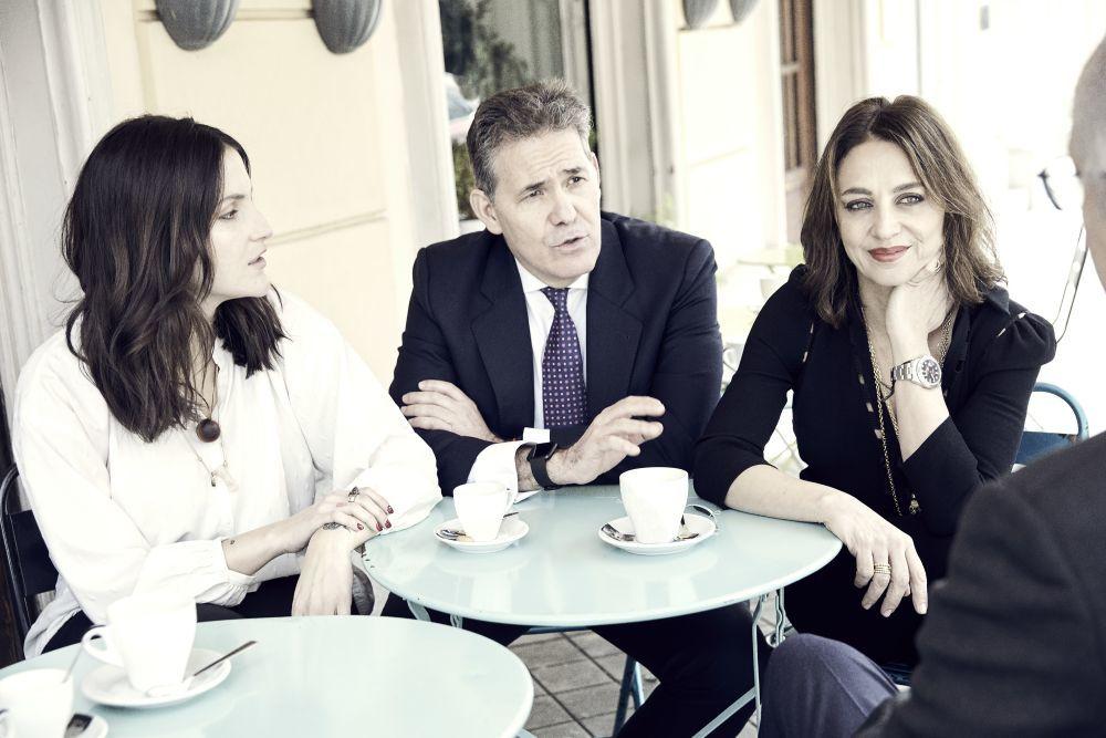 Mitzy Ledezma, Rolando Seijas y Eliza Arcaya.