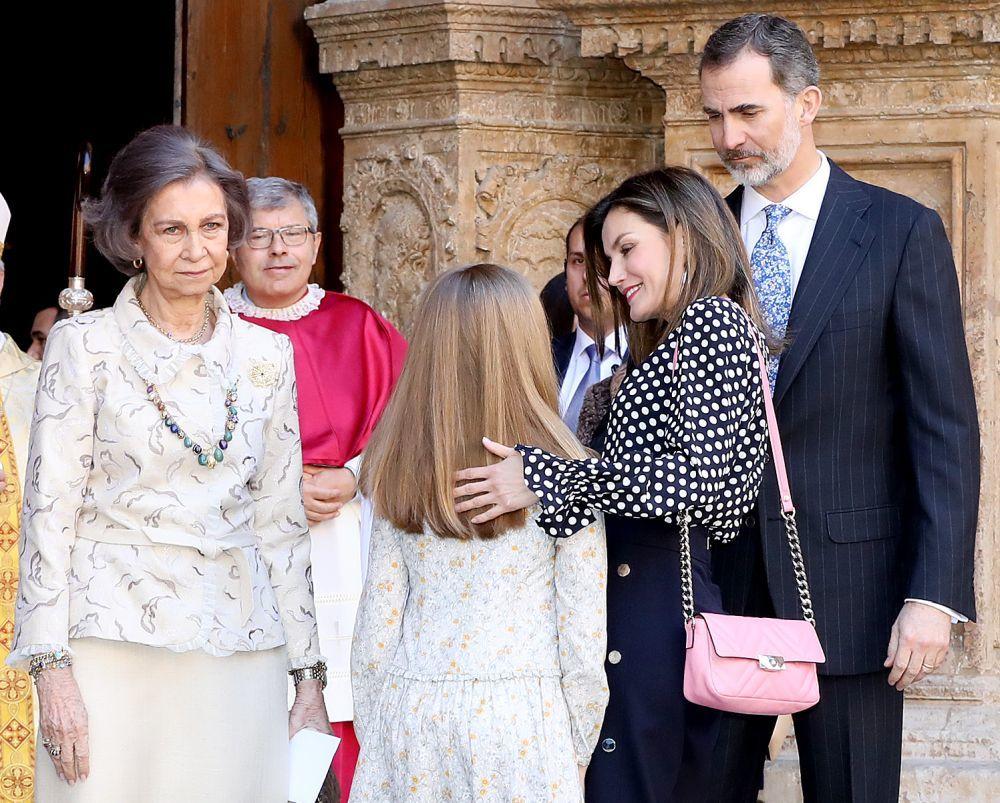 La familia real en la Misa de Pascua de 2018.