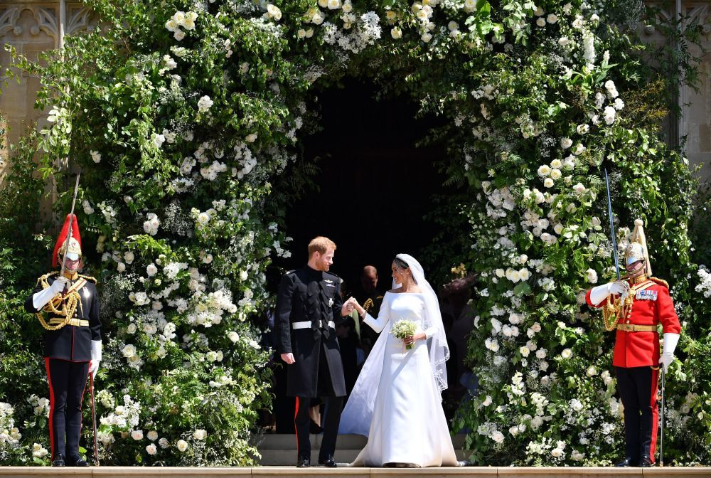 El impresionante decorado floral de la boda de Meghan Markle y el...