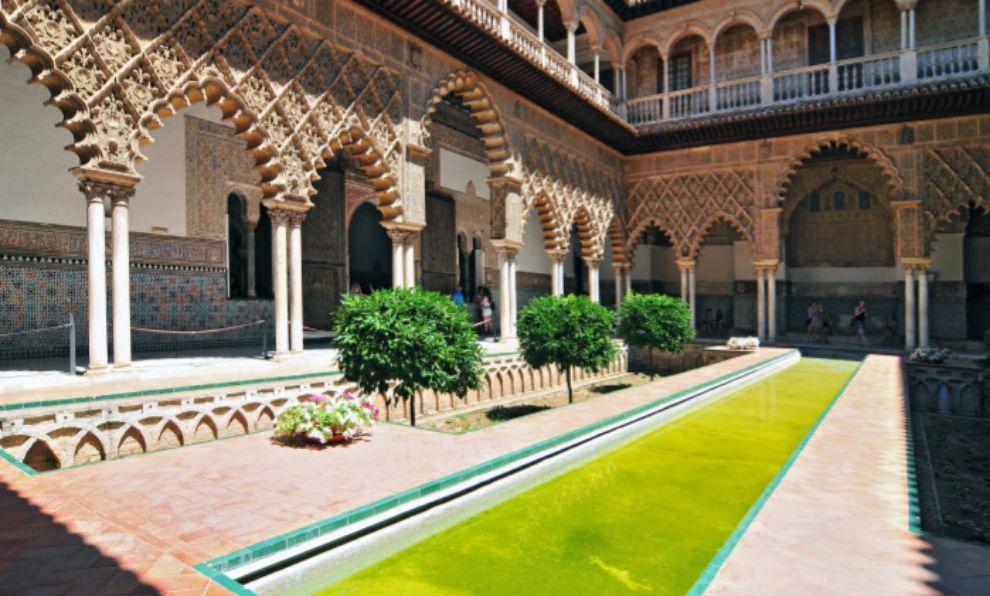 El Palacio del Alcázar de Sevilla (sede de la Casa Martell en Dorne).