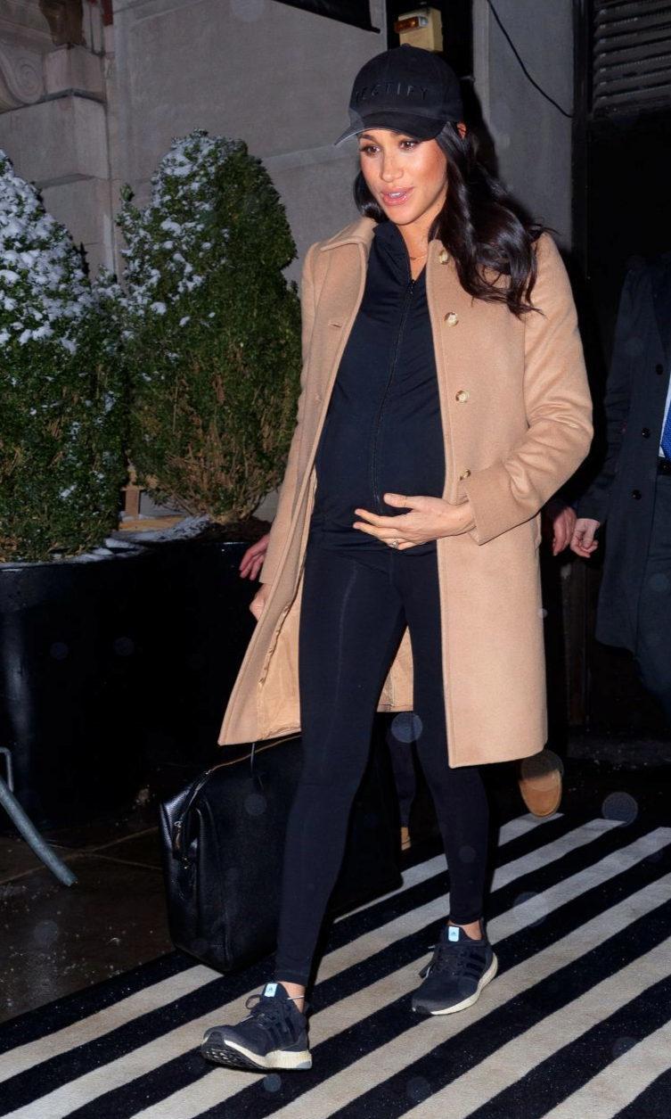 Meghan Markle en Nueva York donde celebró su baby shower.
