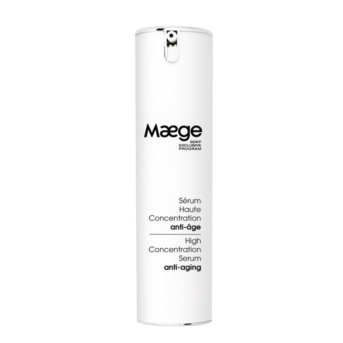 Serum de alta concentración antiedad de Maege.
