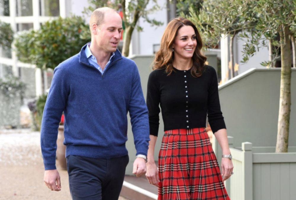 William y Kate en una recepción en Kensington Palace
