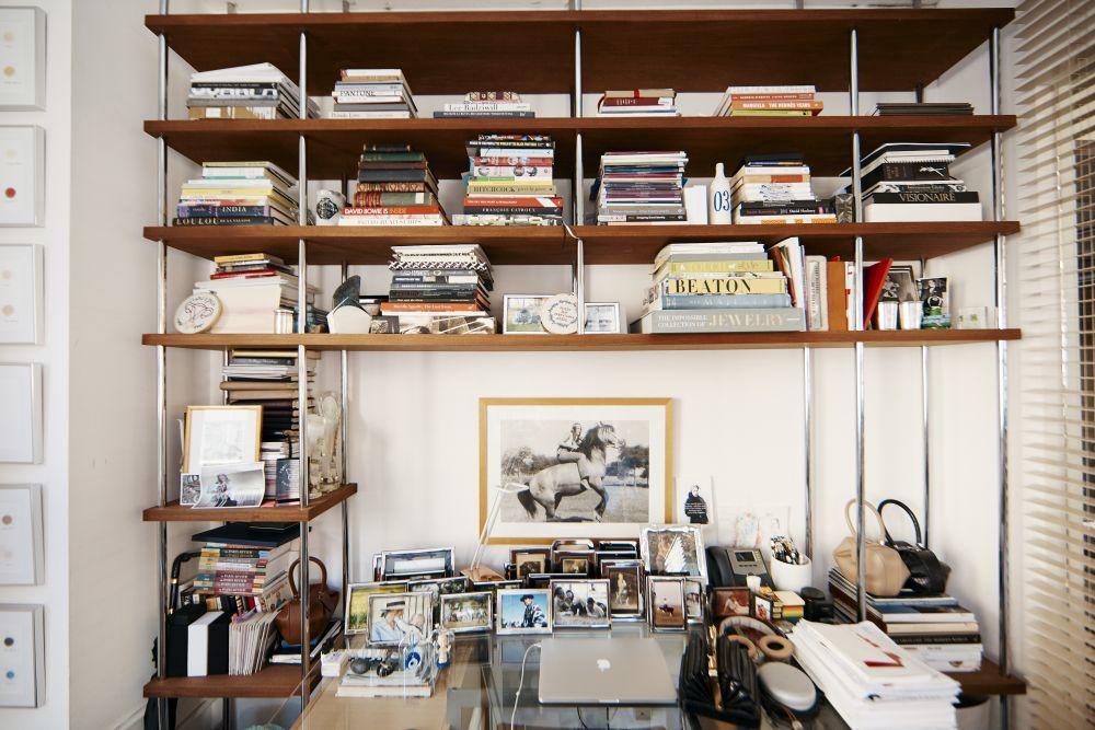 Su mesa de trabajo, en su estudio de Manhattan.