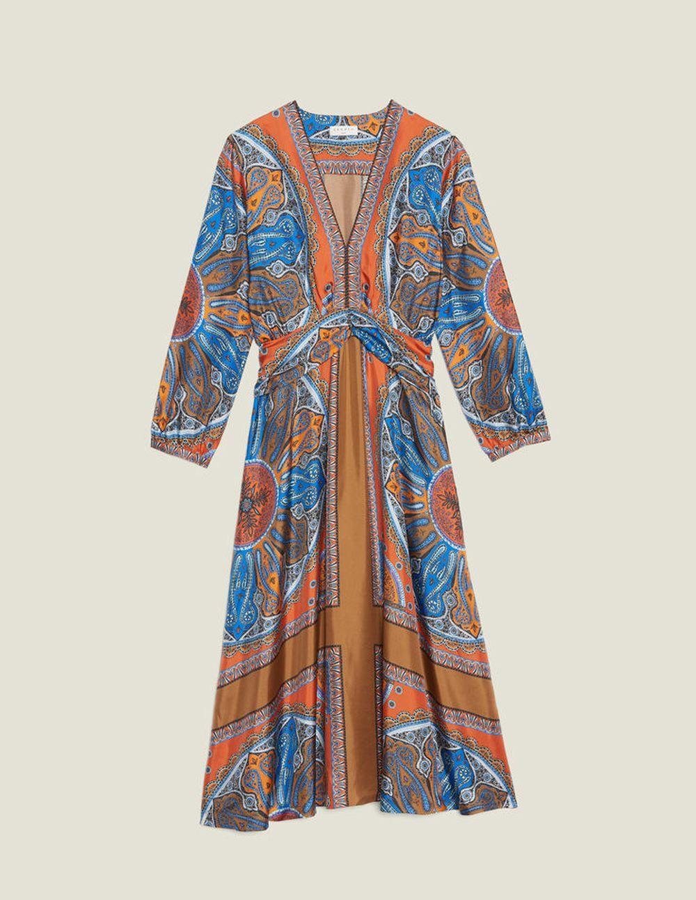 Vestido de seda de Sandro Paris (395 euros)