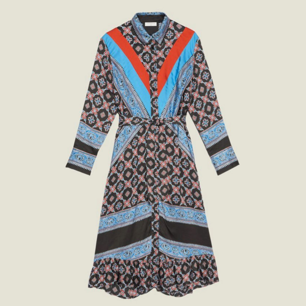 Vestido estampado de Sandro Paris (345 euros)