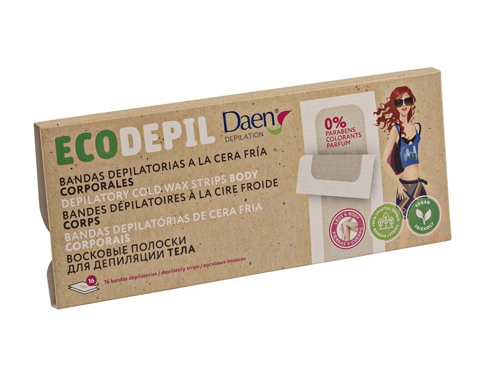 Bandas depilatorias corporales a la cera fría Ecodepil de Daen,...