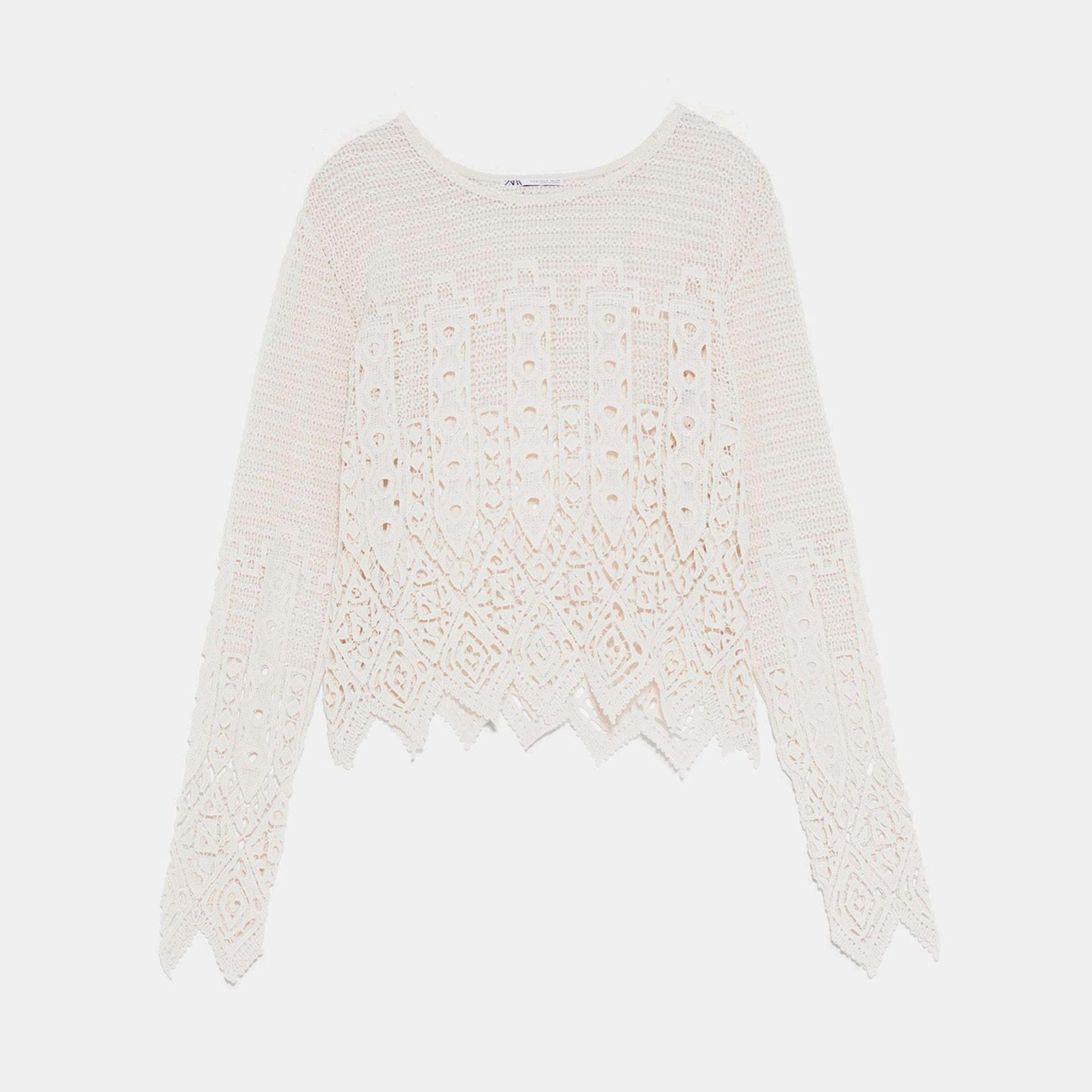 Jersey de crochet de Zara