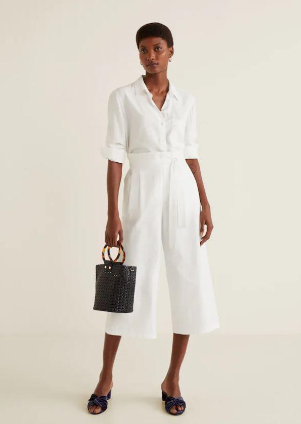 376ba93ae En blanco, de Mango | La falda pantalón o los culottes: dónde...