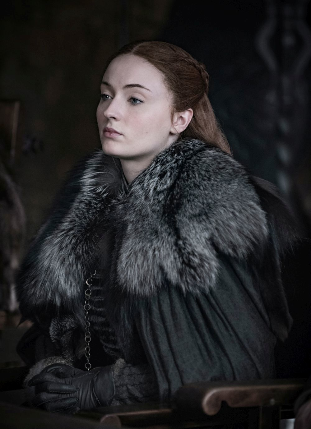 Sophie Turner como  Sansa Stark.