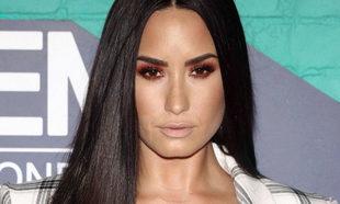 Demi Lovato con su larga melena antes de cortarse el pelo y...