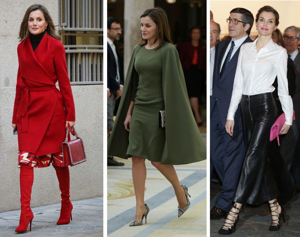 Doña Letizia con botas rojas de Magrit, salones de efecto serpiente y...
