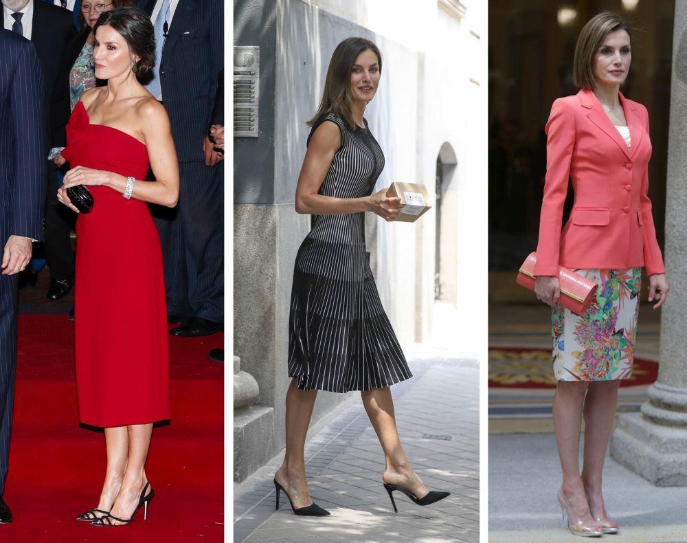 La reina se apunta a la tendencia del calzado de vinilo.