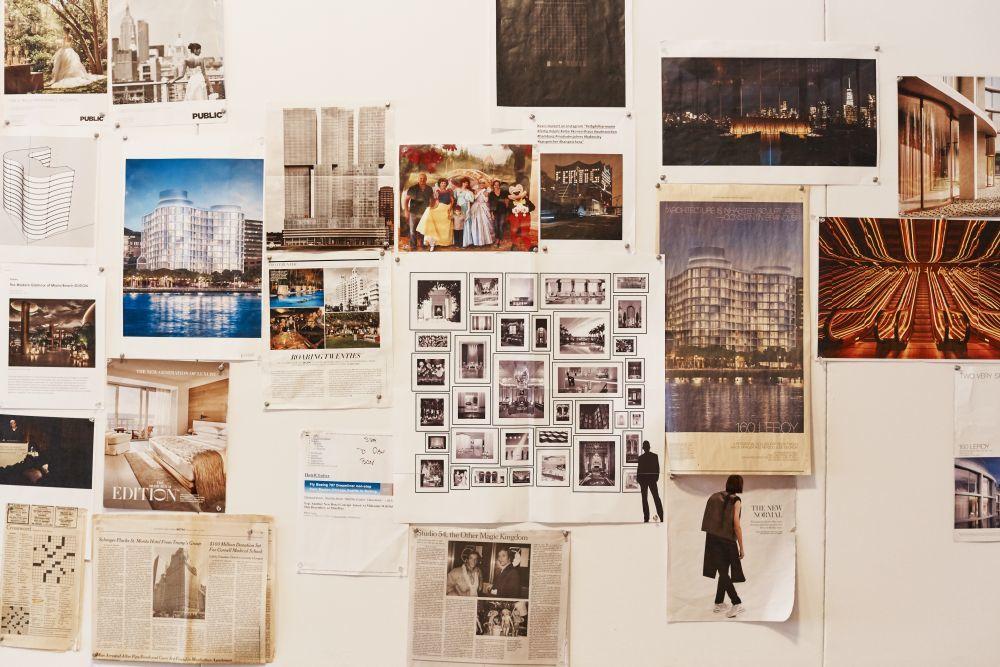 Ideas, inspiraciones y proyectos en la oficina de Schrager.