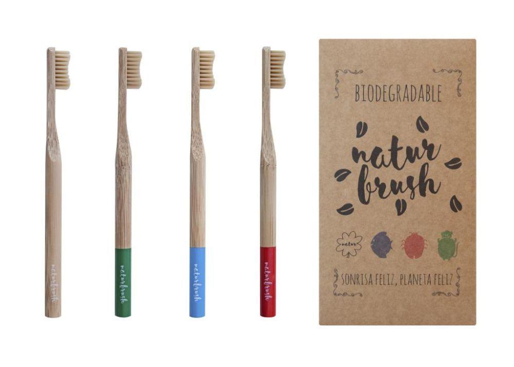 Cepillos de dientes biodegradables de NaturBrush.