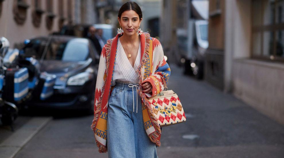 Jeans en el street style de Milán