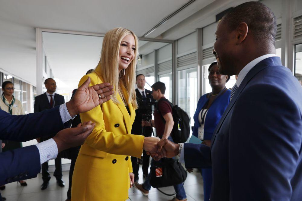 Ivanka Trump en su viaje oficial a África.
