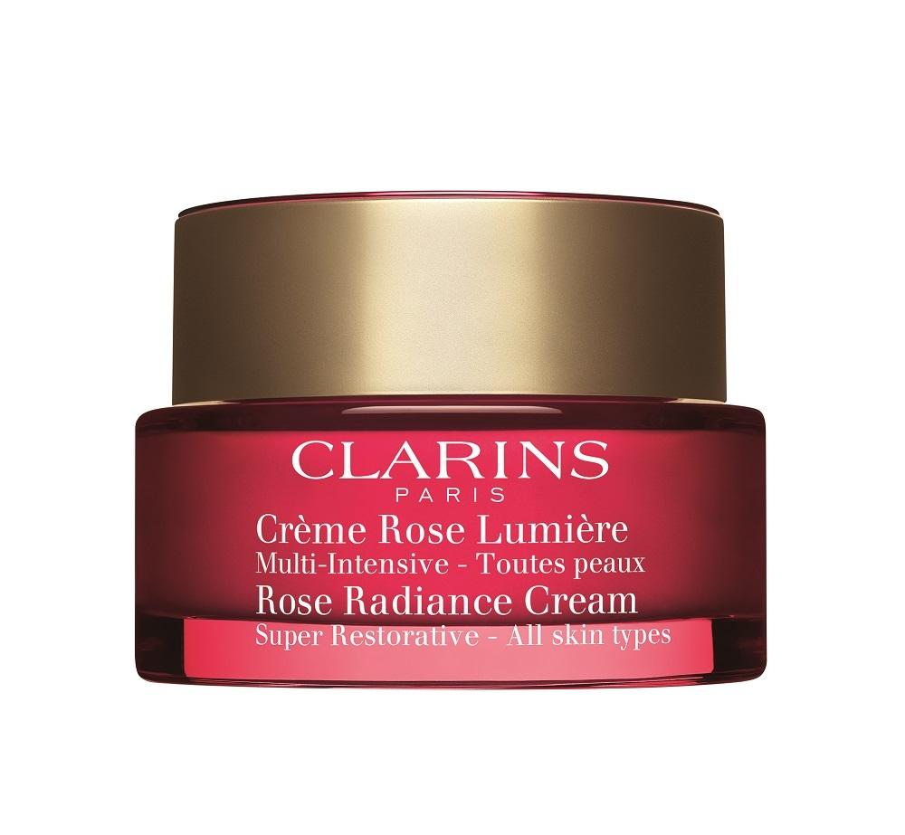 Crème Rose Lumière Multi Intensive de Clarins, un tratamiento...