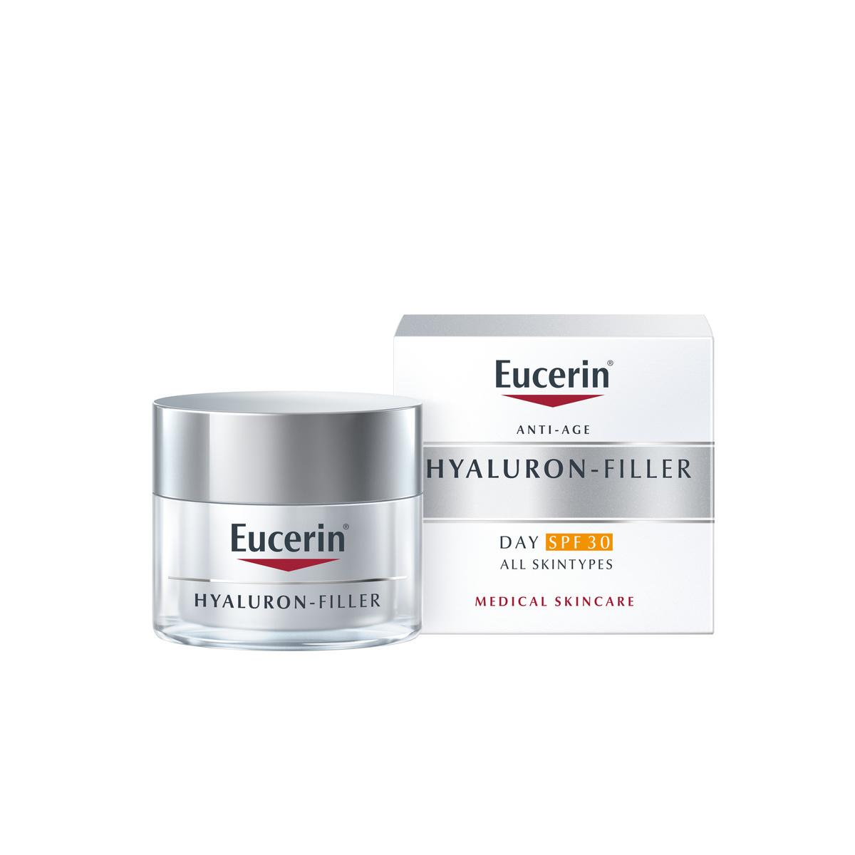 Eucerin® Hyaluron-Filler FPS30 es una crema que rellena las arrugas...
