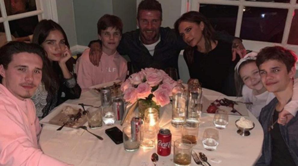 Los Beckham celebrando el 45 cumpleaños de Victoria.