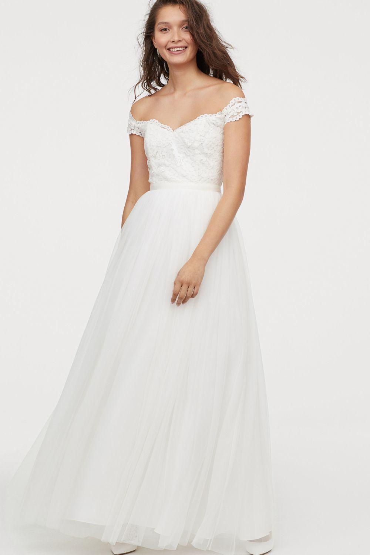 Vestido de novia de tul de H&M (199 euros).