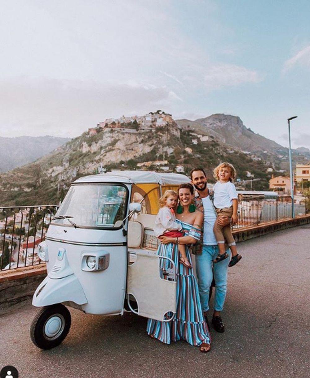 La familia en Sicilia.