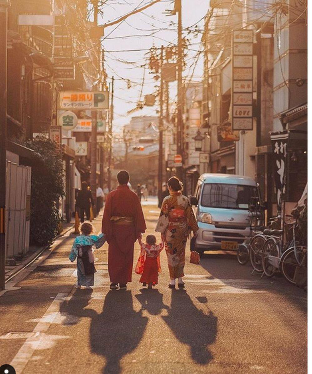 Los Miljian en Kioto (Japón)