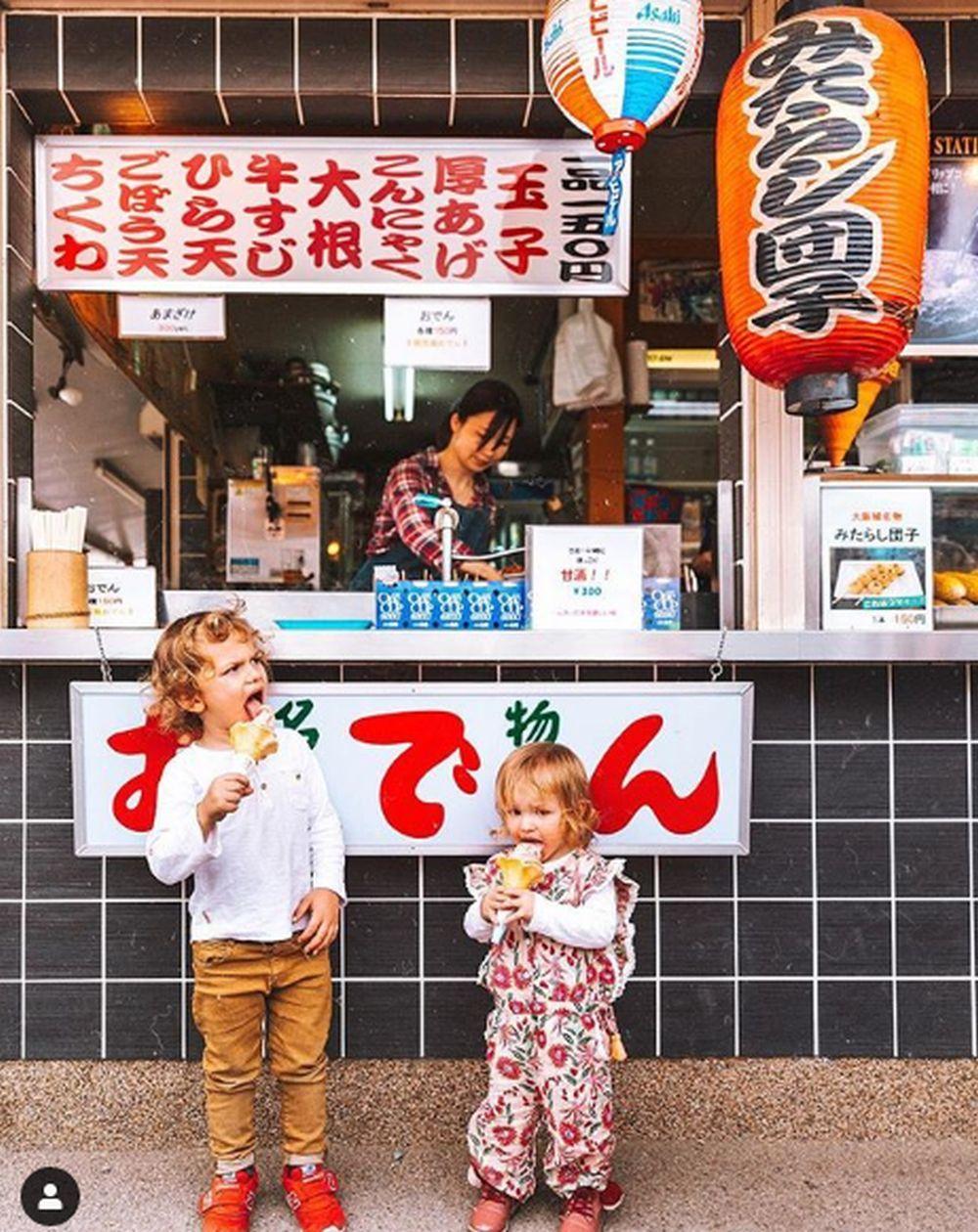Teo y Lia en Osaka (Japón)
