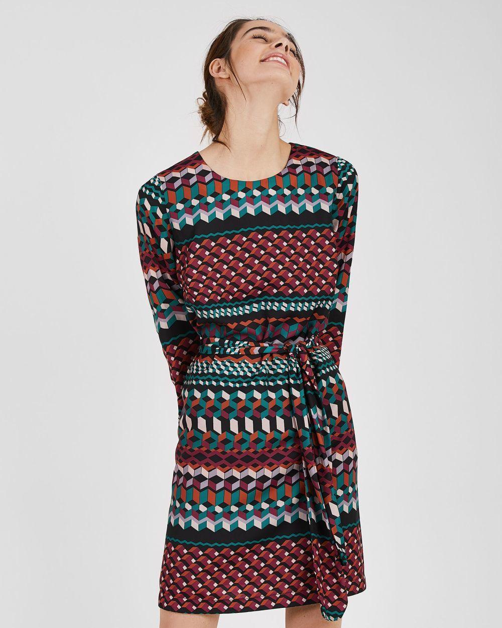 Vestido estampado, de Trucco (48,97 euros).