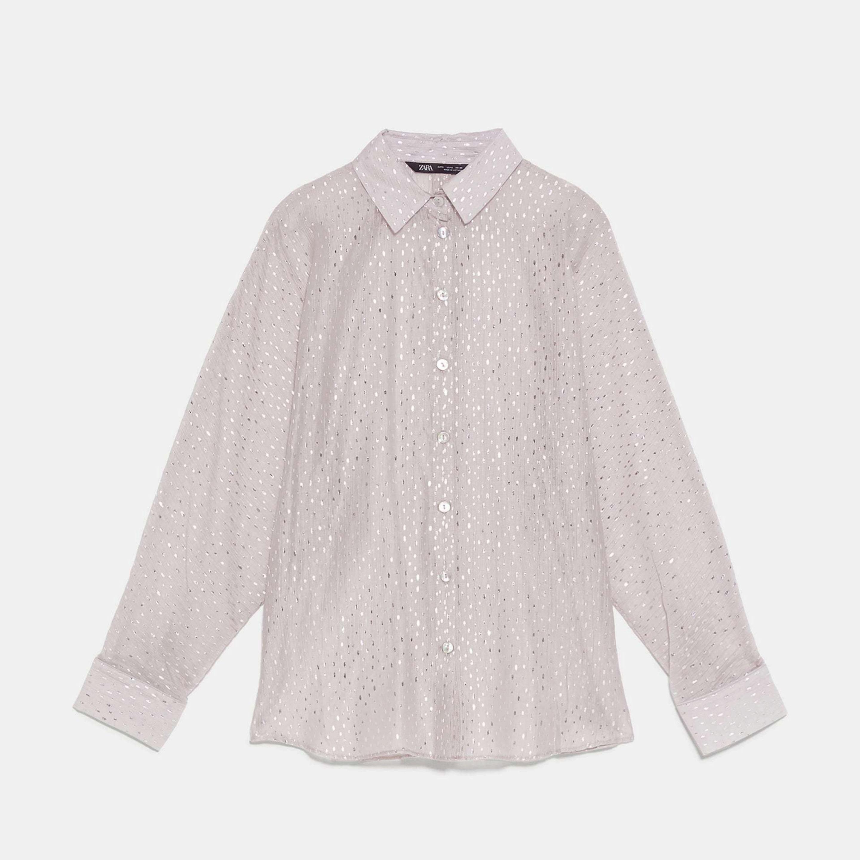 Camisa con brillos de Zara