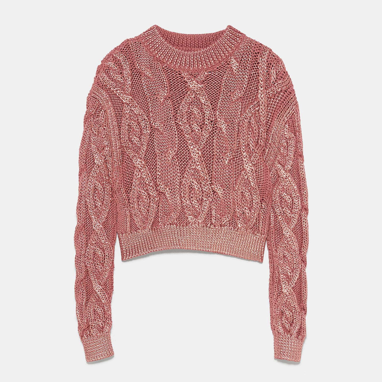 Jersey de lana con brillos de Zara