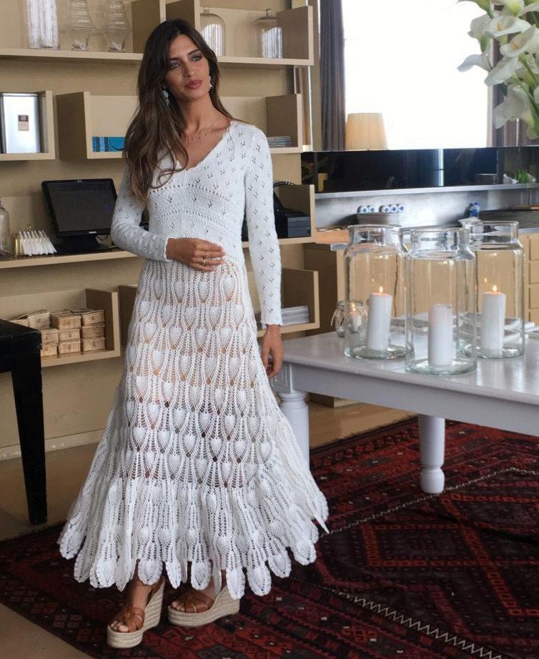 Sara Carbonero Dicta Tendencia Vuelve El Vestido Crochet Telvacom