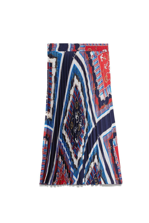 Falda estampada de Zara.